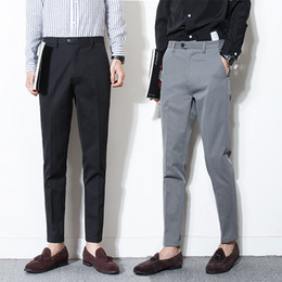 173711c9056 2018 new pants suit men classical male trousers mens dress long casual pant  fit business office formal wedding party
