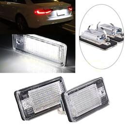 Wholesale rear license plate lights - 2Pcs 18 LED Error Free License Plate Light Lamp For Audi A3 A4 B6 B7 A6 A8 Q7 A5
