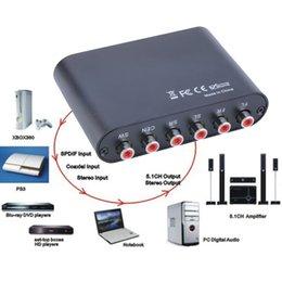 stereo ottico Sconti Hot AC3 / DTS Digital Optical Audio a convertitore analogico stereo RCA a 5.1 / 2.1 canali all'ingrosso