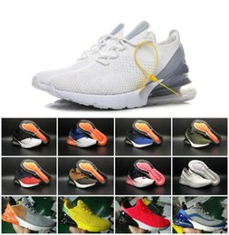 Wholesale time lights - 2018 Vapormax 270 AIR Cushion Half Palm Knitted Face Three Times Black Running Shoes Outdoor RUN Sneakers flair phlyknit Triple Mens shoes