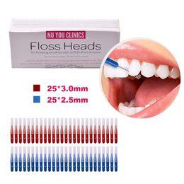 50pcs / boîte Dent Flossing Head Hygiène Orale Dentaire En Plastique Interdental Brosse Cure Dents Cure Dents Choisissez Brosse À Dents De Nettoyage ? partir de fabricateur