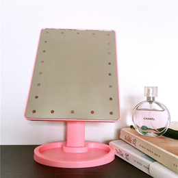 isolierfolienpapier Rabatt Kosmetischer LED-Spiegel 360 Grad-Umdrehung 16 LED-Licht Touch Screen faltende tragbare kompakte Tasche bilden Spiegel heiß