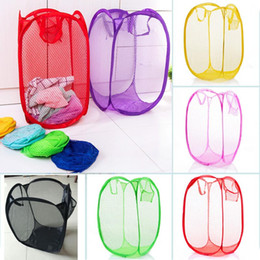 2020 waschküche kleidung Fold Laundry Hamper Mesh Storage Containers Durable Handles Collapsible Organizer For Clothes In the Kids Room College Dorm Travel HH7-1100 günstig waschküche kleidung