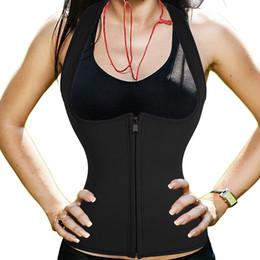 Wholesale Corset Animal Print - Neoprene Slimming Corset Women Vest Waist Trainer Cincher Workout Bodysuit Women Waist Corset Hot Shaper Body Shaper Sweat Tops