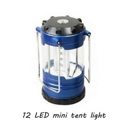 Wholesale Blue Night Light Bulbs - Blue 12LED Mini Hanging Light Tent Light Portable Outdoor Emergency Light Camping Outdoor Products Stall Night Market