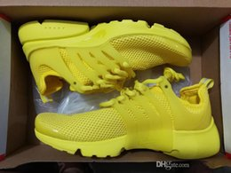 Wholesale yellow kids sneakers - Running Shoes Presto Men Running Shoes Kids Mens Women High Quality Yellow Outdoor Fashion Jogging Sneakers Athletic Shoes Size EUR 36-46