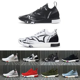 Wholesale Green Juice - Hot Sale Designer Shoes NMD Racer Consortium X JUICE Black white Blue Green Sky Blue Red Mens Women Shoes Cheap Running Shoes 36-45