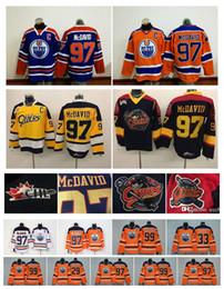 Wholesale cheap hockey jerseys edmonton - Men Erie Otters Hockey Jerseys Cheap #97 Connor McDavid Jersey 99 Wayne Gretzky 29 Leon Draisaitl 33 Cam Talbot Edmonton Oilers McDavid