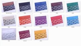 Wholesale french letters - wholesale Classic Design Casual Credit leather card set card package french tide Card ID Holder Ultra Slim Wallet Packe