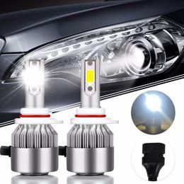 2Pcs Auto-Styling HIR2 Super Bright COB Led Birne 72W 7600Lm Auto Led Scheinwerfer 9012 12V Moto Nebelscheinwerfer DRL Automobile von Fabrikanten
