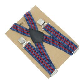 4cm X-back Stripped Ruffle Suspenders Tank Line Thick Streak Correa de ropa de moda para hombres desde fabricantes