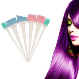 Wholesale Brush Hairdresser - 6 Pcs Large Hair Dye Colour Brushes Scraping plates Hairdresser Salon Brush Kit 2017 NewM23X17