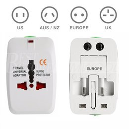 Wholesale International Travel Power Adapter - Travel universal wall charger power adapter for plug Surge Protector Universal International Travel Power Adapter Plug (US UK EU AU AC Plug)
