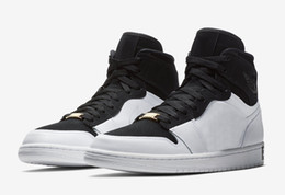 Wholesale jump boxes - 2018 High Men OG 1 EQUALITY Black White-Metallic Gold Basketball Shoes 1S JUMP MAN Sneakers Trainers Mens Sport Shoes