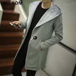 f61a3afb93ee8 GAUCHE ROM Pull homme grande taille plus cachemire Manteau lâche Mâle 2017  entreprise de mode de qualité couleur pure Cardigan en tricot Coupe-vent