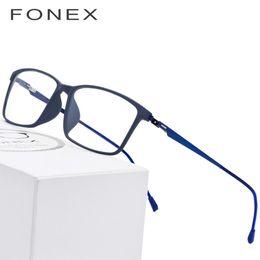2bccb911024 TR90 Titanium Alloy Glasses Frame Men Myopia Eye Glass Prescription  Eyeglasses 2018 Korean Screwless Optical Frames Eyewear 9855