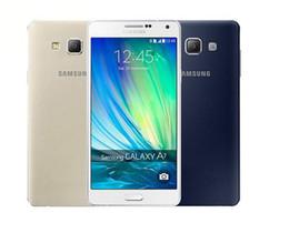 Wholesale a7 4g - Original Samsung Galaxy A7 A7000 4G LTE Mobile phone Octa-core 1080P 5.5'' 13.0MP 2G RAM 16G ROM Dual SIM Smartphone