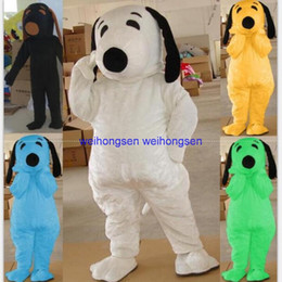 Rotes weißes blaues kleid online-Null machen EVA Material Helm Hunde Maskottchen Kostüme schwarz, blau, rot, grün, gelb, weißer Hund. Cartoon Bekleidung 1025
