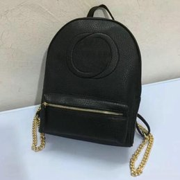 Wholesale Silk Backpacks - New Arrival Fashion mens School Bags gold chain Women Backpack designer Backpack Genuine leather Lady school Bags