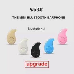 Wholesale Bluetooth Micro Earphone Cell - Upgrade S530 Mini Wireless Bluetooth 4.0 Earphones Stereo Light Stealth Headphones Headset Earbud With Micro phone Universal with retail box