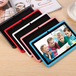 Wholesale Android Tablet Dual - 7 inch A33 Quad Core Tablet Allwinner Android 4.4 KitKat Capacitive 1.5GHz 512MB RAM 4GB ROM WIFI Dual Camera Flashlight Q88