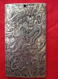 Wholesale kwan yin buddha - old tibetan tibet silver guan kwan yin buddha dragon statue nepal thangka