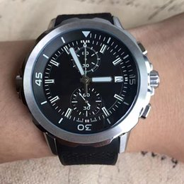 Wholesale Calibre 16 Black Dial - 2017Top Quality watch men calibre 16 link timepieces black Dial Stainless Steel quartz chronograph Watch Mens sports Watches