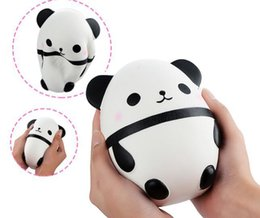 Wholesale Collection Eggs - Panda egg Squishy Jumbo Cute Panda Kawaii Kids Toys Doll Gift Fun Collection Stress Relief Toy Hop Props Decompression toys