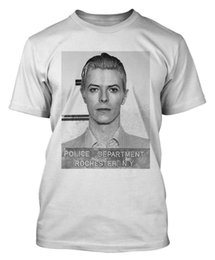 mug shots Promo Codes - DAVID BOWIE T SHIRT BOWIE MUG SHOT T-SHIRT ZIGGY GLAM ROCK POP DTG Classic Quality High t-shirt