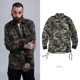 Wholesale Opening Performance - 2018 original spring and summer new European and American high street tide male military camouflage performance jacket Hong Kong style loose