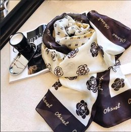 Wholesale long scarves for women - Spring Designer Silk scarf for Women New Famous Brand Womens Long Scarves shawls 180x90cm Beach wrap