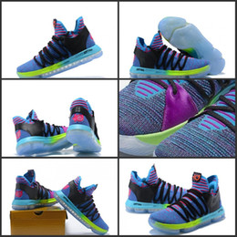 Wholesale Medium Size Gift Boxes - 2018 Wholesale New KD 10 Doernbecher Basketball Shoe Top Quality Signature Shoes Outdoor Sports Sneakers With Box Christmas Gift Size 40-46