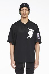 Materialhemd stil online-Patch auf Ärmel Jersey Material übergroßen Hip Hop T-Shirt Kurzarm Angst vor Gott T-Shirt Männer Sport Style Herren T-Shirts 003