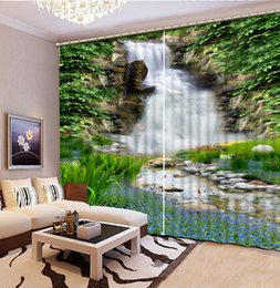 dolphin curtains Promo Codes - Customize Underwater world dolphins 3D 3d Curtains waterfall Home Decoration Bedroom Living Room Window Custom Curtain
