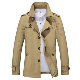 Eslite Hyun Mens Trench Coat Diseñador de moda Hombres Coat Otoño Slim Brand Mens Jacket Cotton Windbreaker Hombres Trench 4XL desde fabricantes