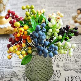 Посадка черники онлайн-7color Silk Foam Blueberry Fruit Berry для свадьбы Главная ваза Украшение поддельные Фрукты diy stamen Искусственные растения Цветы