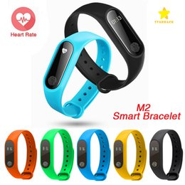 Wholesale Watch Band Packaging - M2 XIAOMI Fitness Tracker Watch Band Heart Rate Monitor Waterproof Activity Tracker Smart Bracelet Pedometer Call remind with Retail Package