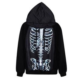 Wholesale Skeleton Hoodie Women - New Europe American Fashion Men Women 3d Hoodies Skulls Skeleton Hoody Tracksuit Oversized Hoodie Homens Moletom