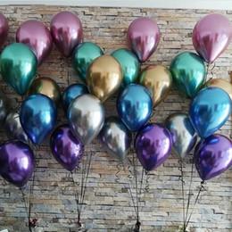 50pcs 12inch Mixed Metallic Latexballons Perlen Metallchrom-Air Helium Balls Baby-Geburtstag Hochzeit Dekorationen Kinder Spielzeug von Fabrikanten