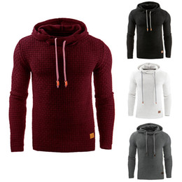 Wholesale Gray Hooded Sweater - The 2017 new winter sweater Mens Plaid jacquard slim hooded men's long sleeved 3D hoodies student burst Creative wholesale free shipping