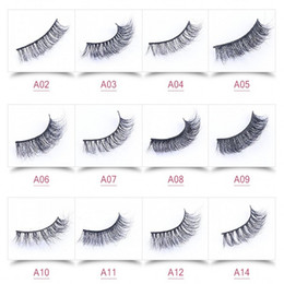 Wholesale eyelashes extensions for sale - 2018 Hot Sale 3D Mink False Eyelashes 19 Styles Selectable Real Handmade Natural Long Black Eyelash Extensions For Beauty Makeup
