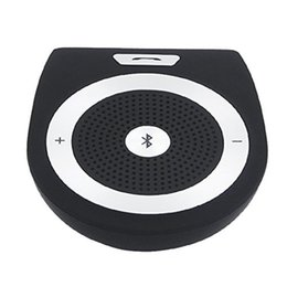 Wholesale bluetooth multipoint speakerphone car kit - Handsfree Bluetooth Car Kit Noise Cancelling Wireless Clip On Sun Visor Portable Car Audio Multipoint Speakerphone Kits