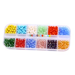 Wholesale Crystal Bicone - Mixed Colors Glass Crystal Bicone Beads 720pcs Box Loose Spacer Bead For DIY Jewelry Making 12 Colors Free DHL G181L