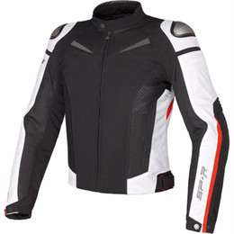 summer motorcycle jacket xxl Promo Codes - Dain Super Speed Motorcycle Motorbike Textile Jacket Breathable Mesh SP-R Summer Moto Automobile Racing Jacket with Protectors