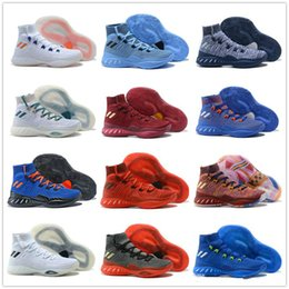 Wholesale Lycra Tops For Women - 13 color 2017 New Arrival man running shoes Crazy Explosive Boost women Basketball Shoes for Top quality Sports Training Sneakers Size 8-11