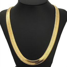 men gold chain sets Promo Codes - 18K Gold Plated Necklace For Men 11MM Heavy Hip Hop Bracelets Fine Jewelry Sets Snack Curb Cuban Rapper Link Chain Hot Sale FreeShipping