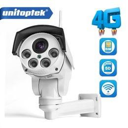 Wholesale cctv wi fi - 1080P IP Camera Wi-FI 3G 4G SIM Card Camera Wifi HD Bullet PTZ Camera Outdoor Wireless IR 50M 5X Zoom Auto Focus Lens CCTV Cam
