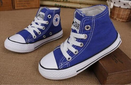 Wholesale Star Child Boy - New All Size 24-34 kids star canvas shoes fashion high low children shoes boys and girls sports chuck Classic Canvas Shoe