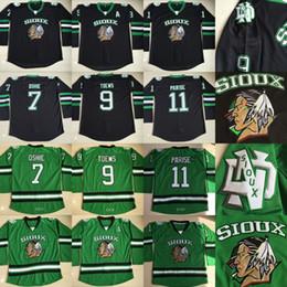 North Dakota Fighting Sioux 9 Jonathan Toews  7 TJ Oshie  11 Zach Parise Fighting  Hawks UND Ice Hockey Jerseys Double Stiched hockey sioux on sale 977271942