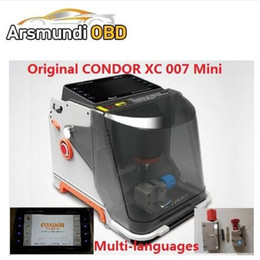 Wholesale Russian Land - 2018 DHL free CONDOR Mini XC 007 auto Key Cutting Machine CONDOR XC007 in Portuguese Spanish French Germany Russian better Slica key machine